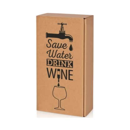 Präsentkarton Natura Wein 2er Safe Water Drink Wine